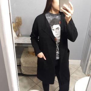 J.crew black sweater jacket